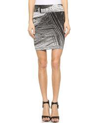 Helmut Lang Method Print Skirt - Black Multi - Lyst