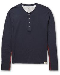 Paul Smith Cotton-jersey Henley T-shirt - Lyst