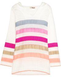 lemlem - Gola Striped Cotton-Blend Gauze Hooded Top - Lyst
