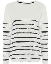 Linea Weekend Brush Stripe Long Sleeve Sweat Top - Lyst