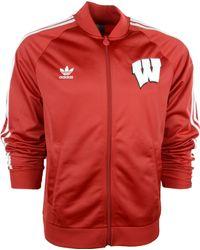 Adidas Wisconsin Badgers Legacy Track Jacket - Lyst