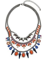 Topshop Jewel Stone Multi Layer Necklace in Gift Box - Lyst