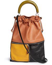 Marni 'Fold' Small Acrylic Handle Colourblock Leather Bag - Lyst