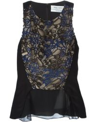Prabal Gurung Embroidered Front Panel Top - Lyst