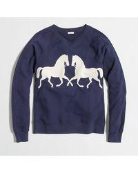 J.Crew Factory Gallop Sweatshirt - Lyst