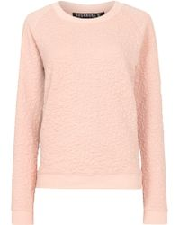 Sugarhill - Betty Floral Embossed Jumper - Lyst