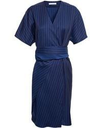 J.W. Anderson Pinstripe Wrap Dress - Lyst