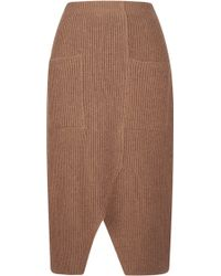Sonia Rykiel Contrast Color Rib Knit Skirt - Lyst
