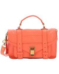 Proenza Schouler Grapefruit Pink Leather 'Ps 1 Tiny' Satchel Bag - Lyst