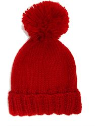 The North Circular - Red Bobble Hat - Lyst