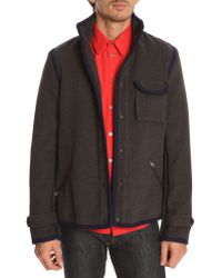 Opening Ceremony Taped Navy And Grey Jacket - Lyst