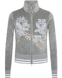 Bogner - Isabeli Bird Embroidered Velour Sweatshirt - Lyst