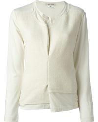 Comme Des Garçons Patch Detail Sweater - Lyst