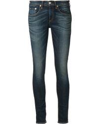 Rag & Bone Blue Skinny Jeans - Lyst