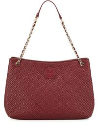 Tory Burch - Marion Quilted Slouch Shoulder Bag - Lyst