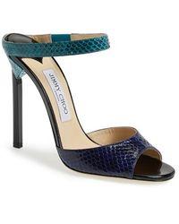 Jimmy Choo Women'S 'Deckle' Leather Sandal - Lyst