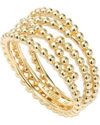 Lagos Covet 18K Gold Caviar Band Ring - Lyst