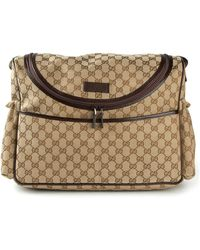 Gucci Brown Diaper Bag - Lyst