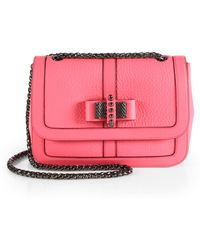 Christian Louboutin Sweet Charity Bowdetail Leather Flap Bag - Lyst
