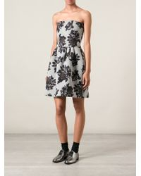 MSGM Rose Print Dress - Lyst