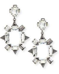 R.j. Graziano - Crystal Chandelier Earrings - Lyst