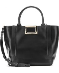 Roger Vivier - Ines Shopping Small Leather Tote - Lyst