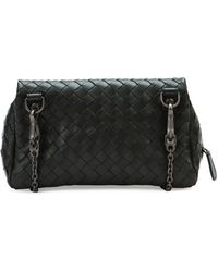 Bottega Veneta Woven Mini Crossbody Bag Black - Lyst