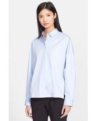 Tibi Satin Poplin Oversize Shirt - Lyst