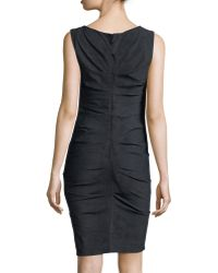 Nicole Miller Artelier - Sleeveless Body-conscious Ruched Sheath Dress - Lyst
