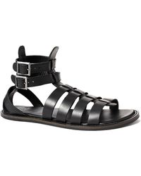 Asos Sandals In Leather - Lyst