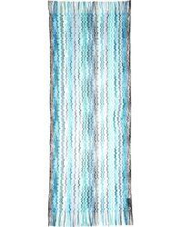 Missoni Wave-Stripe Fringe Scarf blue - Lyst