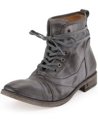 John Varvatos Fleetwood Lace-up Leather Boot - Lyst