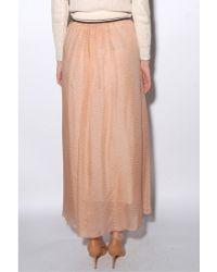 Giada Forte - Flower Print Silk Chiffon Skirt - Lyst