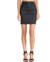 Ag Adriano Goldschmied The Kodie Pencil Skirt - Lyst