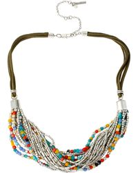 Kenneth Cole Multi-Row Beaded Necklace - Lyst