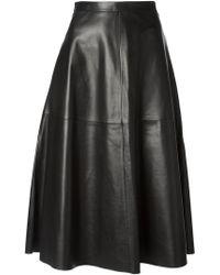Valentino Black Aline Skirt - Lyst