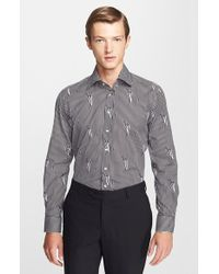 Etro 'Ippolito' Trim Fit Print Stripe Shirt - Lyst