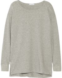 James Perse Gray Cotton-terry Sweatshirt - Lyst