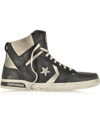 Converse Weapon Hi Leather and Suede Sneaker - Lyst
