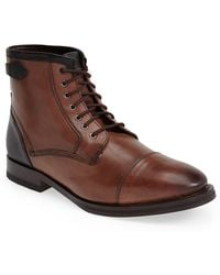 Ted Baker 'Comptan' Cap Toe Boot brown - Lyst