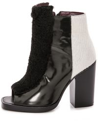 Opening Ceremony Elise Open Toe Booties  Marble Green Multi - Lyst
