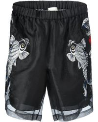 3.1 Phillip Lim Embroidered Sheer Shorts - Lyst