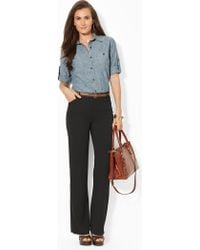 Lauren by Ralph Lauren Flared Stretch Pant - Lyst