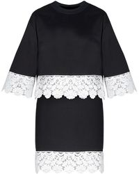 Pixie Market Two Piece Black And White Lace Dress black - Lyst