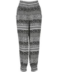 Izabel London - Eastern Printed Harem Trousers - Lyst