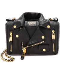 Moschino Moto Jacket Shoulder Bag - Black - Lyst