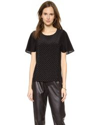 Club Monaco Carly Silk Top - Blackpearl - Lyst
