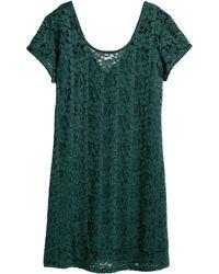 H&M + Lace Dress - Lyst