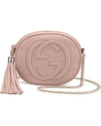 Gucci Soho Leather Mini Chain Bag - Lyst