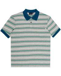 Paul Smith Grey Marl Surf Stripe Polo Shirt - Lyst
